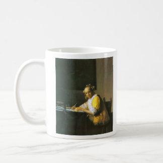 Woman in yellow by Johannes Vermeer Mugs
