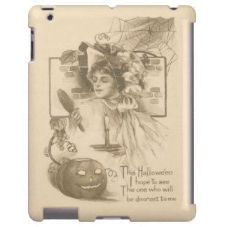 Woman Jack O' Lantern Candle Spider Web iPad Case