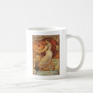 Woman & Jack O' Lantern Coffee Mug