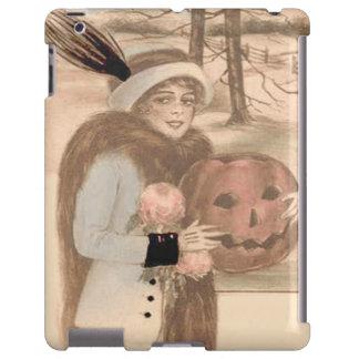 Woman Jack O' Lantern Flowers iPad Case