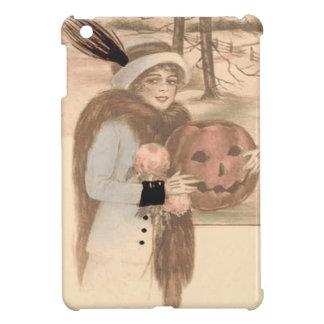 Woman Jack O' Lantern Flowers iPad Mini Covers