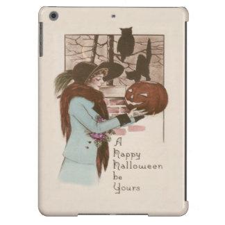 Woman Jack O' Lantern Pumpkin Owl iPad Air Cover