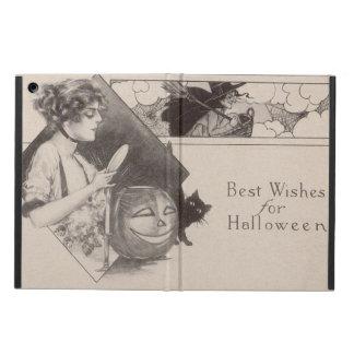 Woman Jack O' Lantern Pumpkin Witch Black Cat iPad Air Cover