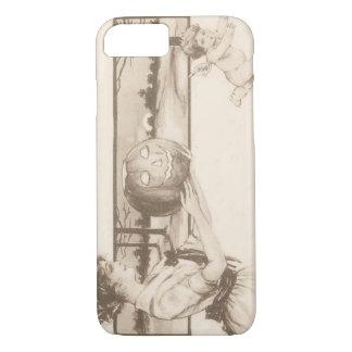 Woman Jack O' Lantern Scaring Cupid iPhone 7 Case