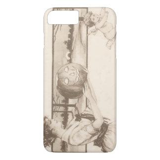 Woman Jack O' Lantern Scaring Cupid iPhone 7 Plus Case