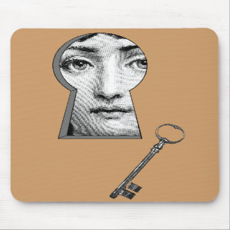 Woman keyhole mousepads