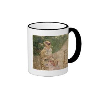 Woman Knitting, Berthe Morisot Fine Ar Coffee Mug