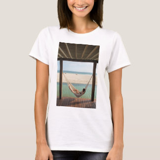 Woman Laying On A Hammock At A Small Hotel T-Shirt
