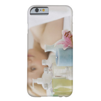 Woman laying on spa table barely there iPhone 6 case