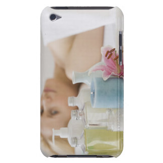 Woman laying on spa table barely there iPod cases