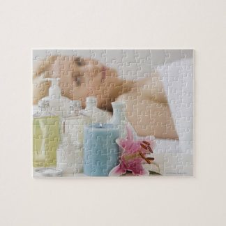 Woman laying on spa table jigsaw puzzle