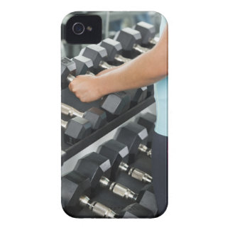 Woman lifting dumbbells 2 iPhone 4 Case-Mate cases