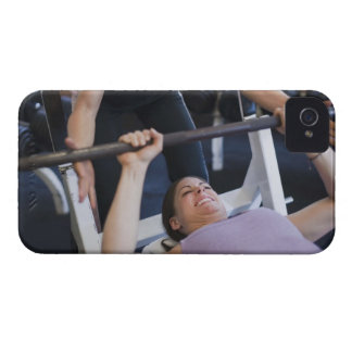 Woman lifting weights 2 Case-Mate iPhone 4 cases
