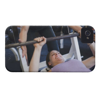 Woman lifting weights 2 iPhone 4 case