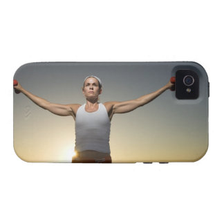 Woman lifting weights 4 vibe iPhone 4 covers