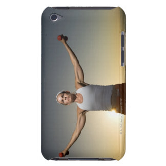 Woman lifting weights 4 iPod touch covers