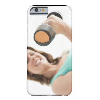 Woman lifting weights barely there iPhone 6 case