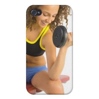 Woman lifting weights covers for iPhone 4