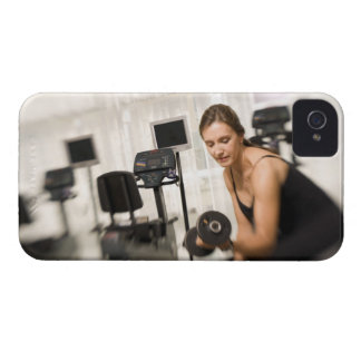 Woman lifting weights in gym 2 iPhone 4 Case-Mate cases