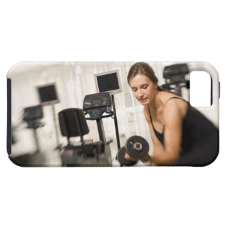 Woman lifting weights in gym 2 case for the iPhone 5