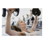 Woman Lifting Weights Poster