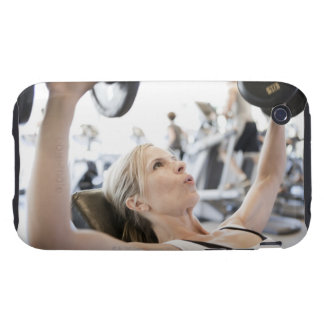 Woman Lifting Weights Tough iPhone 3 Cover
