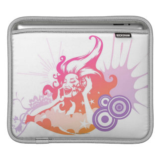 Woman Listening to Music iPad Sleeve
