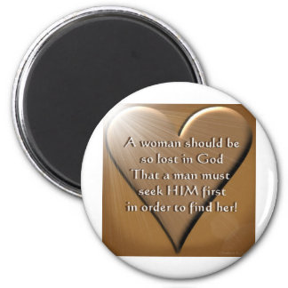 Woman Lost In God 6 Cm Round Magnet