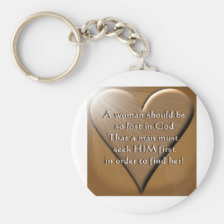 Woman Lost In God Basic Round Button Key Ring