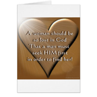 Woman Lost In God Greeting Card
