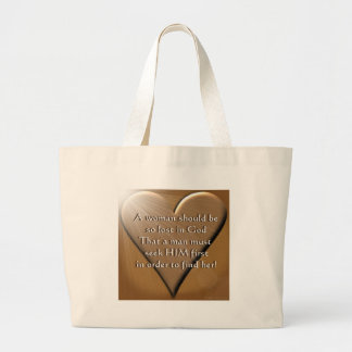 Woman Lost In God Large Tote Bag