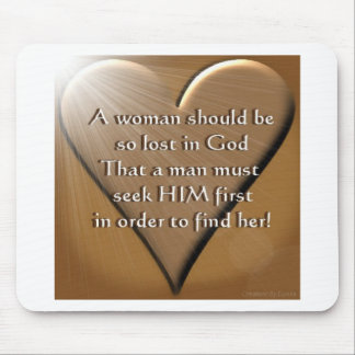 Woman Lost In God Mouse Pad