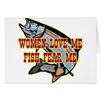 Woman Love Me Fish Fear Me Greeting Card