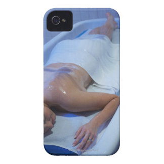 Woman lying down in vichy shower Case-Mate iPhone 4 cases