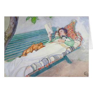 Woman Lying on a Bench, 1913 Greeting Card