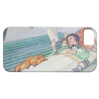 Woman Lying on a Bench, 1913 (w/c on paper) iPhone 5 Cases