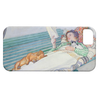 Woman Lying on a Bench, 1913 (w/c on paper) iPhone 5 Cover