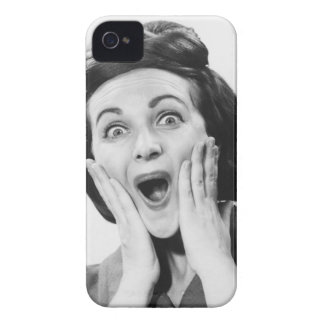 Woman Making Face iPhone 4 Case-Mate Cases