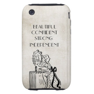 Woman Mirror Retro Strong Beautiful Confident Tough iPhone 3 Cases