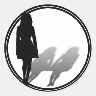 Woman Missing Woman Silhouette Sticker