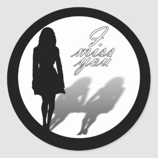 Woman Missing Woman Silhouette Stickers
