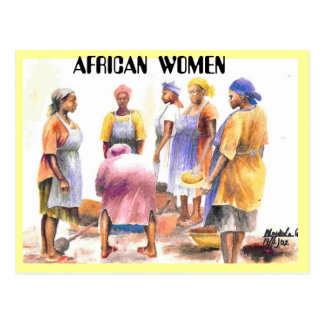 woman of african 2, AFRICAN  WOMEN Postcard