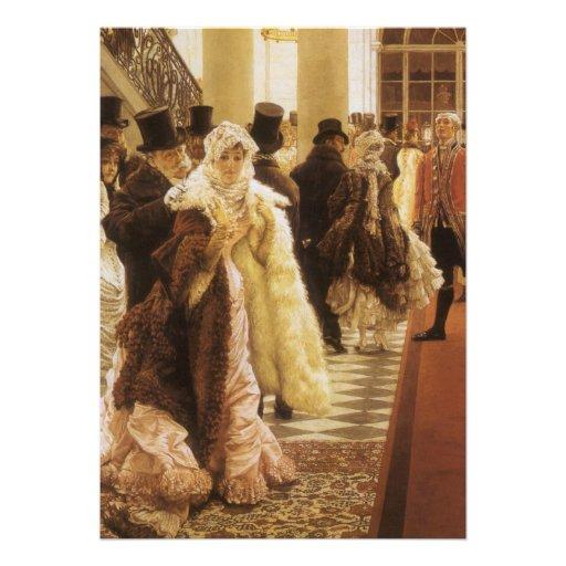Woman of Fashion by Tissot, Vintage Victorian Art Custom Invitations