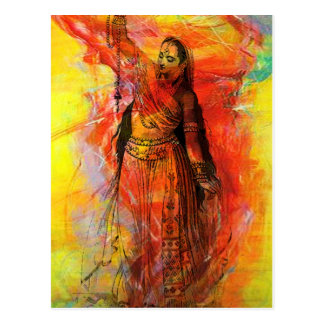 WOMAN OF INDIA WITH SACRED BEADS POSTCARDS