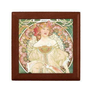 Woman of Leisure Alphonse Mucha Illustration Gift Box