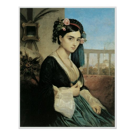 Woman of the Orient, 1840 Charles Gleyre Poster