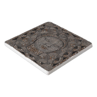 Woman of the tribe Marble Stone Trivet