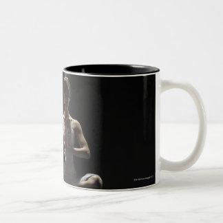 Woman of Yogi who concentrates spirit Two-Tone Coffee Mug