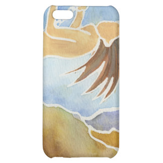 Woman on a swing over hills case for iPhone 5C