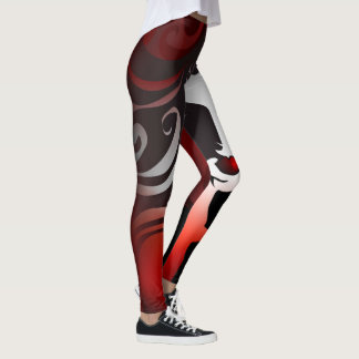 Woman on Fire Abstract Leggings